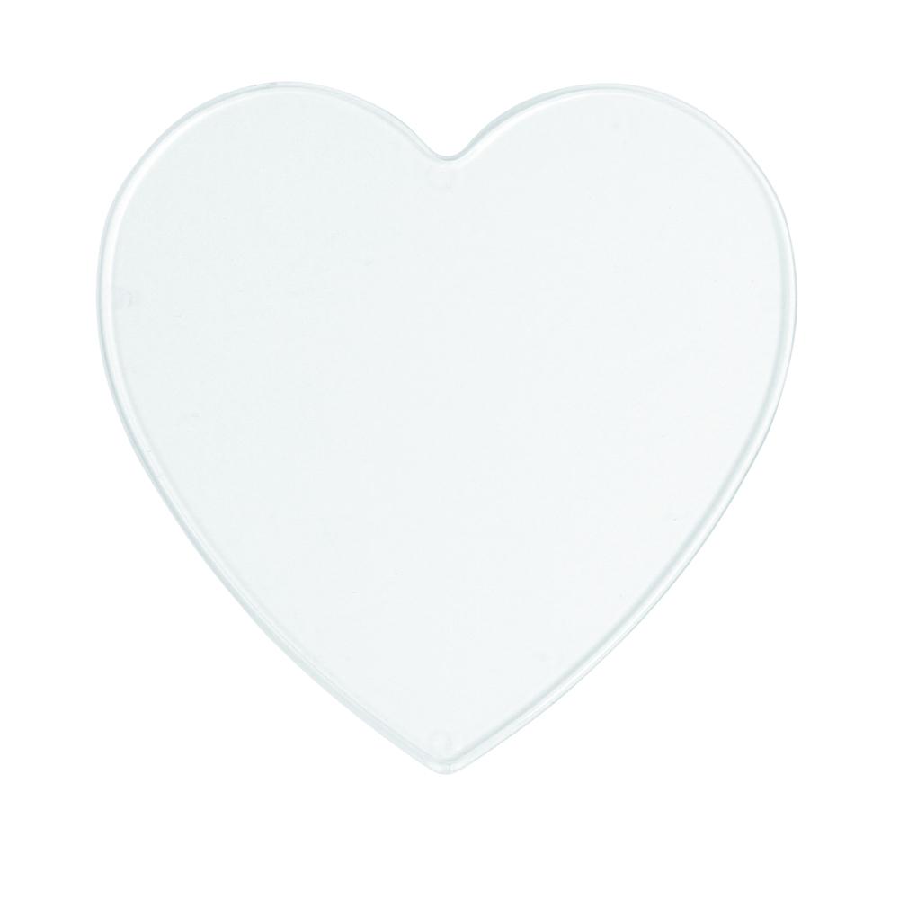 Disque en plastique a peindre, cristal en vrac Coeur, 10 cm