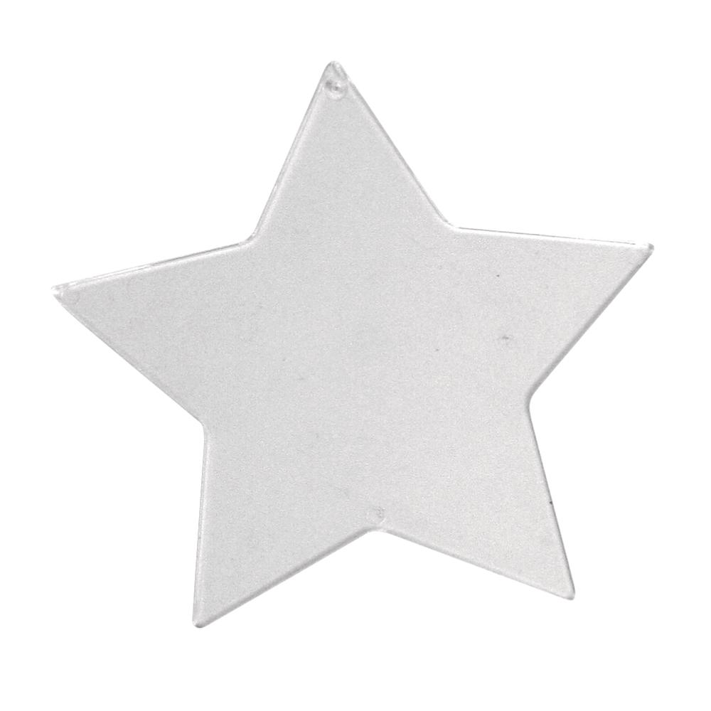 Disque deco, cristal Etoile, 8 cm en vrac