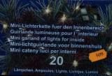 Guirlande lumineuse electrique 20 ampoules fil blanc pour interieur