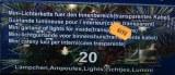 Guirlande lumineuse electrique 20 ampoules fil transparent pour interieur