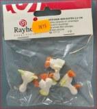 Petits canards en ceramique, 2,5 cm, sct.-LS 4 pces, vert clair
