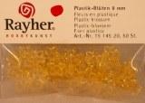 Fleurs acryliques, 9 mm, sct.-LS 50 pces, jaune