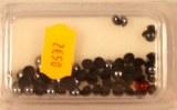 Demi-perles acryliques, irisees, 5 mm a¸, blister-LS 60 pces, noir irise