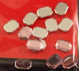 Pierres strass en plast., Octogone,6x8mm, sct.-LS 20 pces, quartz rose