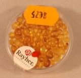 Perle baroque ambre jaune, 2-4 mm a¸, boite 3 g, jaune