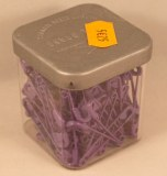 Epingle de surete, 28 mm, 0,80 mm a¸, boite 50g - 135 pces, lilas