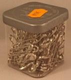 Epingle de surete, 34 mm, 0,80 mm a¸, boite 50g - 115 pces, platine