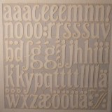 Piece decoupee laser Lettres minisc., sct.-LS 1 coupon, 15,4x15,2 cm, blanc