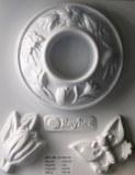 Moule plastique pour support bougie chauffe-plat 145X180mm decor tulipes