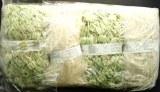 Kit tricot echarpe laines melangees vert tilleul Franca Lana