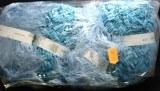 Kit tricot echarpe laines melangees bleu lagon Franca Lana
