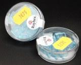 Perles carres en verre, 12x12 mm, boite 12 pces, turquoise