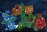 Petits objets polyresine Pot de fleurs, 3 cm, sct.-LS 4 pces, assortie