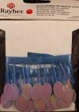 Bordure de rocailles avec paillettes, sct.-LS carte 50 cm, bleu irise
