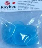 Petites pieces acryliques: Coeurs, 3-5 cm, sct.-LS 12 pces, bleu clair