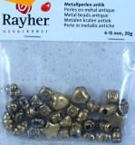 Perles en metal antique, 4-15 mm, sct.-LS 20g, or ancien