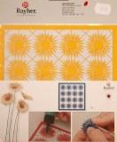 Piece decoupee au laser Soleil, petite, sct.-LS 1 coupon, 15,4x15,2 cm, jaune soleil