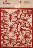 Pce decoupee au laser Papillon Monark, sct.-LS 1 feuille, 13,5x15,5 cm, bordeaux