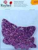 Papillon en tissu Glamour, 3-9 cm, sct.-LS 6 pces, rose