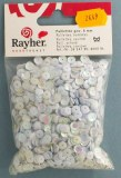 Paillettes, bombees, 6mm a¸, sct.-LS 4000 pieces, blanc irise