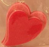 Coeurs en feutrine, 6+8 cm, 2 couleurs, sct.-LS 4 pces, rose fonce/rose
