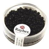 Rocailles. 2.6 mm  opaques boite 17 g noir