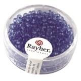 Rocailles. 2.6 mm transparentes boite 17 g bleu clair