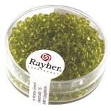 Rocailles. 2.6 mm transparentes boite 17 g vert clair