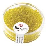 Rocailles. 2.6 mm transparentes boite 17 g jaune