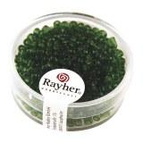 Rocailles. 2.6 mm transparentes boite 17 g vert