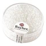 Rocailles. 2.6 mm transparentes boite 17 g cristal