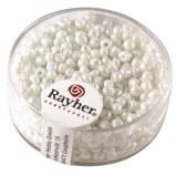 Rocailles. 2.6 mm ø. opaques lustre boîte 17 g blanc