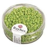 Rocailles. 2.6 mm ø. opaques lustre boîte 17 g vert clair
