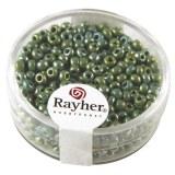 Rocailles. 2.6 mm ø. opaques lustre boîte 17 g vert
