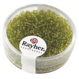 Rocailles. 2 mm ø. transparentes boîte 17g vert clair