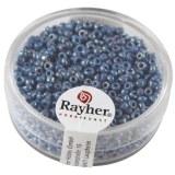 Rocailles. 2 mm ø. opaques lustre boîte 17g bleu clair