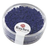 Rocailles. 2 mm ø. opaques boîte 17g bleu fonce