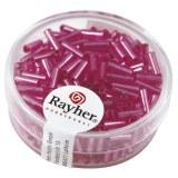 Chevilles en verre. 7/2 mm avec garniture argent. boîte 15 g rose fonce. pas lavable