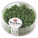 Perles indiennes. 4.5 mm ø boîte 17 g vert