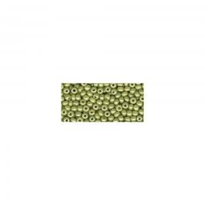 Rocailles. 2.6 mm ø. nacre Boîte 17 g olive clair