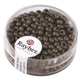 Metallic-rocailles. depolies 4 mm. boite 17 g anthracite