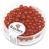 """Perles en verre """"Renaissance"""". 4 mm ø boîte 85 pces orange"""