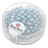 """Perles en verre """"Renaissance"""". 4 mm ø boîte 85 pces bleu clair"""
