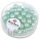 """Perles en verre """"Renaissance"""". 6 mm ø boîte 45 pces turquoise"""