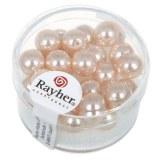 """Perles en verre """"Renaissance"""". 8 mm ø boîte 25 pces rose"""