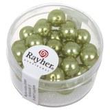 """Perles en verre """"Renaissance"""". 8 mm ø boîte 25 pces jade"""