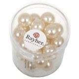 """Perles en verre """"Renaissance"""". 10 mm ø boîte 35 pces rose poudre"""