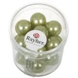 """Perles en verre """"Renaissance"""". 12 mm ø boîte 21 pces jade"""