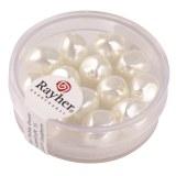 Perle Renaissance 9 mm ø. boîte 13 pces blanc