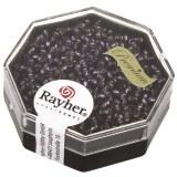 Premium-rocailles. 2.2 mm avec garniture d'argent violet. boite 12 g